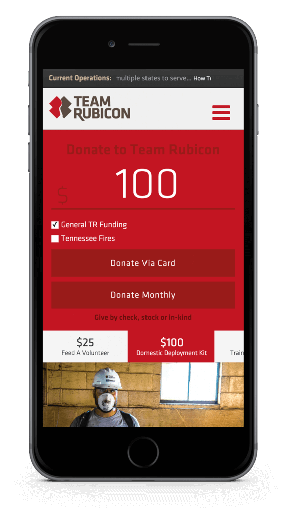 Team Rubicon Mobile Experience
