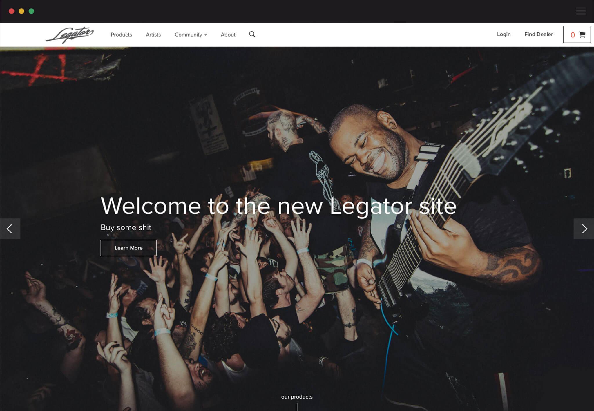 Legator Homepage